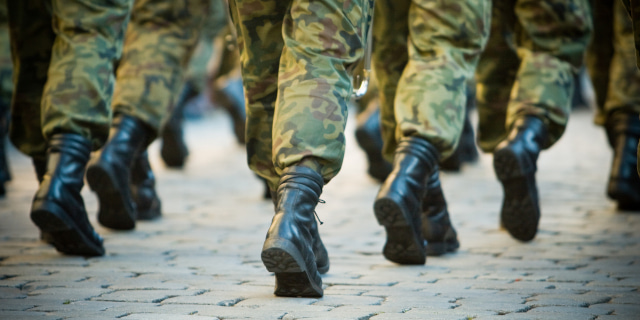 Armed Forces Injury - Soldiers Marching - Nash & Co Solicitors
