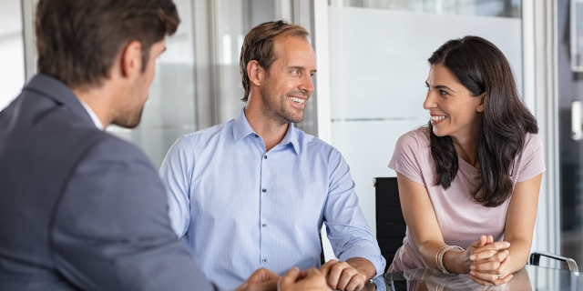 Cohabitation Agreement - Couple in Meeting - Nash & Co Solicitors