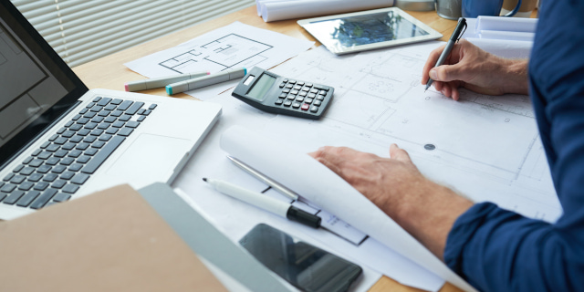 Commercial Solicitors - Architect Working - Nash & Co Solicitors