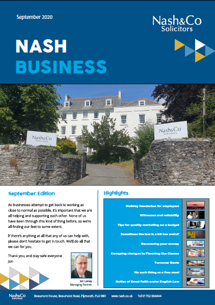 Nash Business Cover